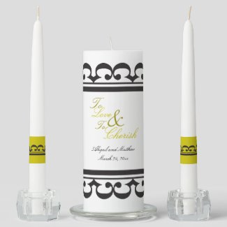 To Love and To Cherish Wedding Unity Candle Set