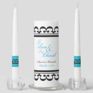 To Love and To Cherish Wedding Vows Unity Candle Set