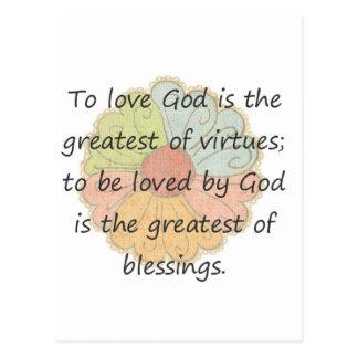 To Love God Postcard