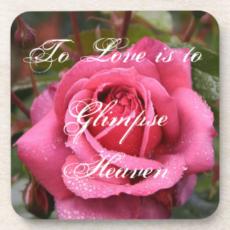 To Love is to Glimpse Heaven Beverage Coaster