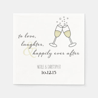 To Love, Laughter, and Happily Ever After Napkin Paper Napkins