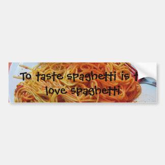 To Love Spaghetti Bumper Sticker