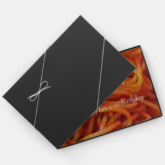 To Love Spaghetti Custom Birthday Guest Registry Guest Book