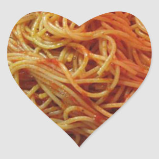 To Love Spaghetti Heart Sticker