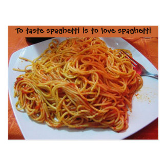 To Love Spaghetti Postcard