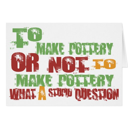 To Make Pottery Greeting Card
