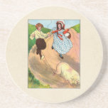 To market, to market, to buy a fat pig. beverage coasters