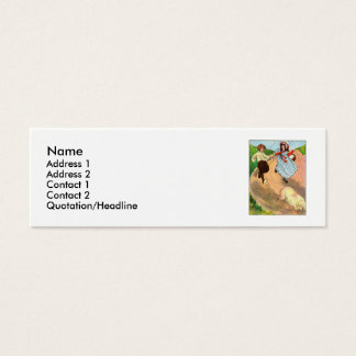 To market, to market, to buy a fat pig. mini business card