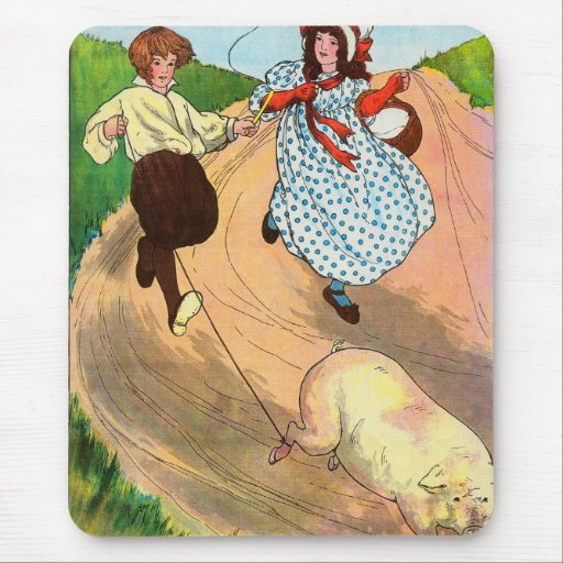 To market, to market, to buy a fat pig. mouse pad