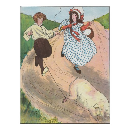 To market, to market, to buy a fat pig. poster
