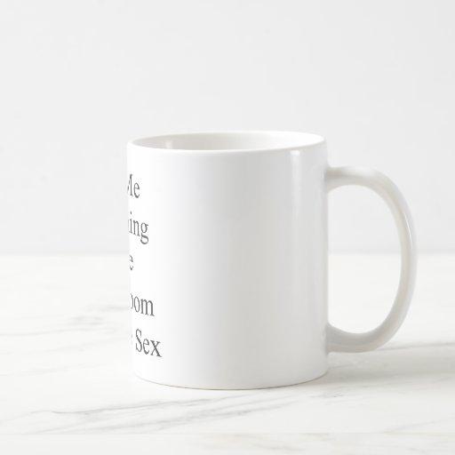 To Me Cleaning The Bathroom Is Like Sex Coffee Mug