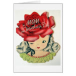 To Mom on Mother's Day. Vintage Mother's Day Card