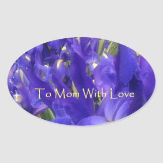 To Mom with Love assorted Gifts Oval Sticker