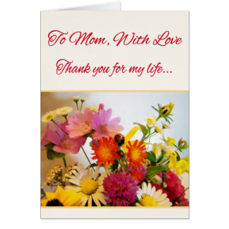To Mom, With Love Greeting Cards