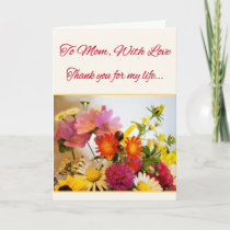 To Mom, With Love Thank You Card