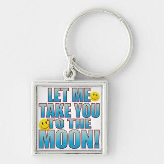 To Moon Life B Keychain