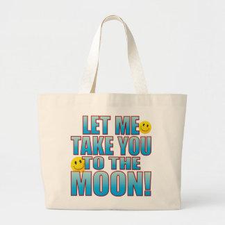 To Moon Life B Large Tote Bag