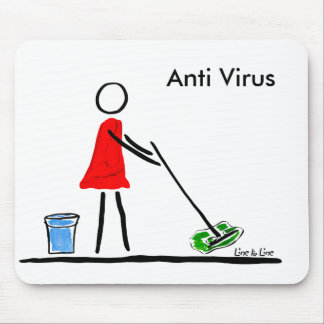 to mop the virus! mouse pad
