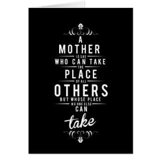To Mother is she who dog take Card