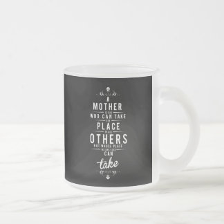 To Mother is she who dog take Frosted Glass Coffee Mug