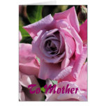 To Mother with Love  Dusky Pink Rose Greeting Card