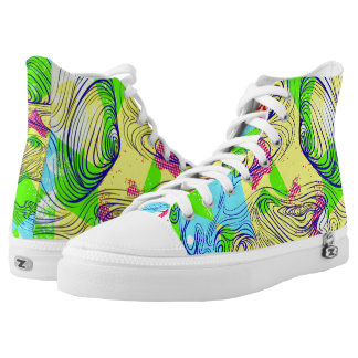 To Much Bad Things Colored Printed Shoes