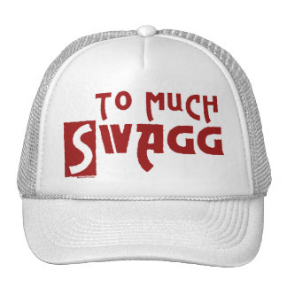 To Much Swagg Red Trucker Hat