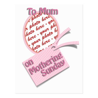 To Mum on Mothering Sunday Postcard