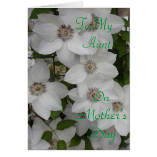 To My Aunt on Mother's Day Card