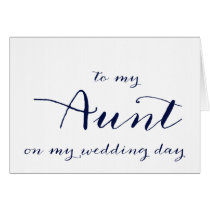 To My Aunt On My Wedding Day Card