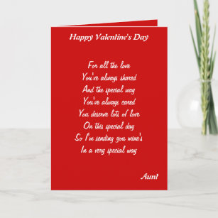 Valentine Aunt Cards Zazzle