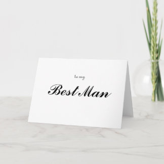 to my Best Man Thank You Card
