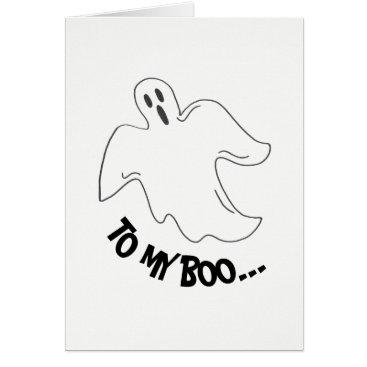 Halloween Themed To My Boo Spooky Halloween Ghost Love Card