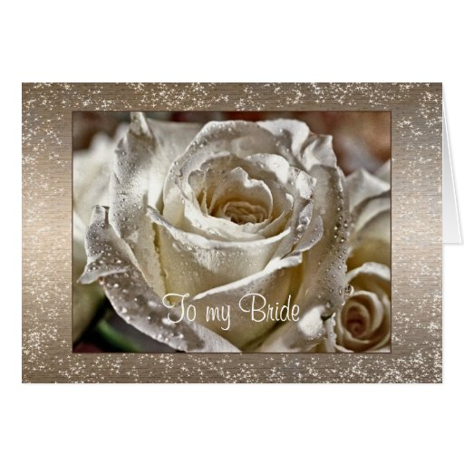 Wedding Gift For Husband Forum : To my Bride or Husband Wedding Day Card Zazzle