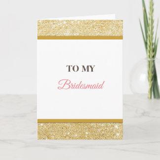 To my bridesmaid wedding thank you card