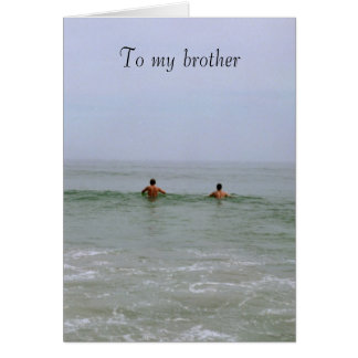 To My Brother Card