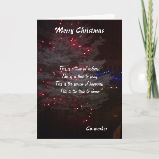 to my coworker christmas greeting cards  zazzle
