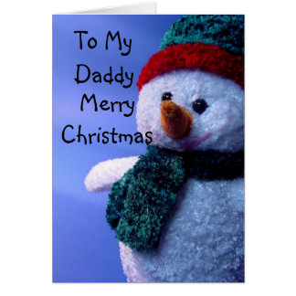 To My Daddy, Merry Christmas Card