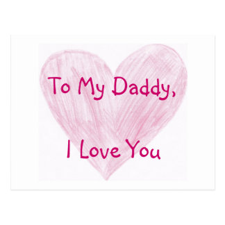 To My Daddy Postcards