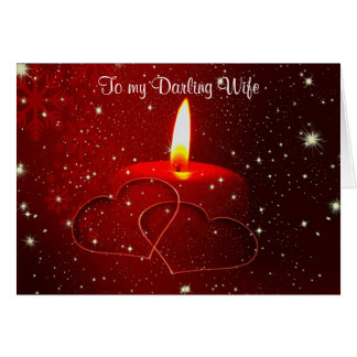 To my darling wife christmas for wife from husband greeting card