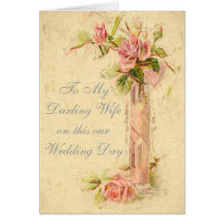 TO MY DARLING WIFE ON OUR WEDDING GREETING CARD