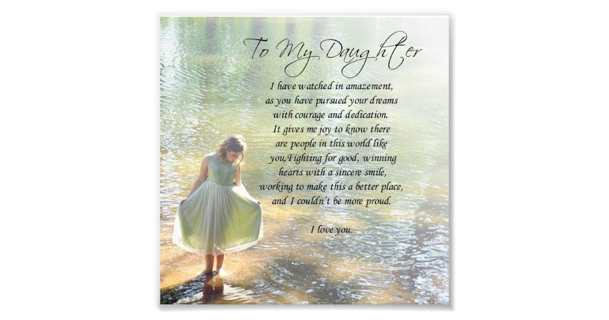 u0026quot to my daughter u0026quot  little girl in water poem print