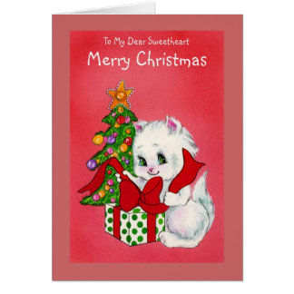 To My Dear Sweetheart Merry Christmas Card