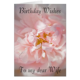 birthday wishes for my wife greeting cards  zazzle, Birthday card