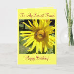 "To My Dearest Friend, Happy Birthday! Card<br><div class=""desc"">Happy Birthday Card-Dearest Friend-Sunflower w/Bee Picture</div>"