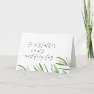 To My Father on My Wedding Day Card