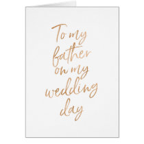 To my father on my wedding | Stylish Gold Rose