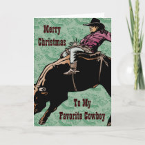 To My Favorite Cowboy Holiday Card