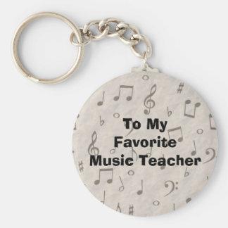 To My Favorite Music Teacher Basic Round Button Keychain