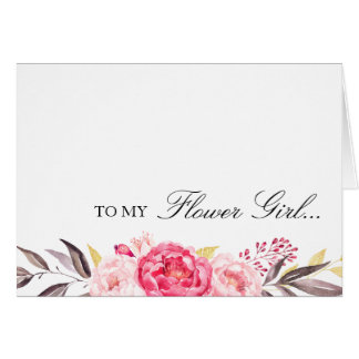 To My Flower Girl, Thank You, Wedding Party Card
